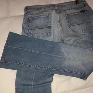 7 for all mankind light blue bootcut jean